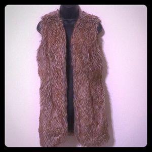 Katherine K Faux Fur Vest